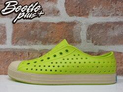 《下殺$1499》BEETLE 2015 NATIVE JEFFERSON 洞洞鞋 螢光綠 白綠 防水 休閒鞋 懶人鞋 陳冠希 奶油底 GLM01-358