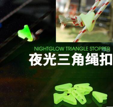 美麗大街【GT107041839E2】戶外夜光繩扣營光帳篷三角扣(小號十個裝)