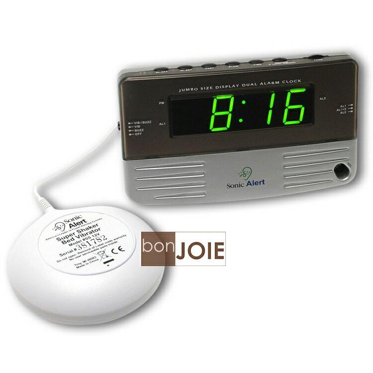 ::bonJOIE:: 美國進口 Sonic Alert SB200SS 震動鬧鐘 (含振動器)(全新盒裝) Bomb Boom 音波炸彈 鬧鈴 靜音 提醒器