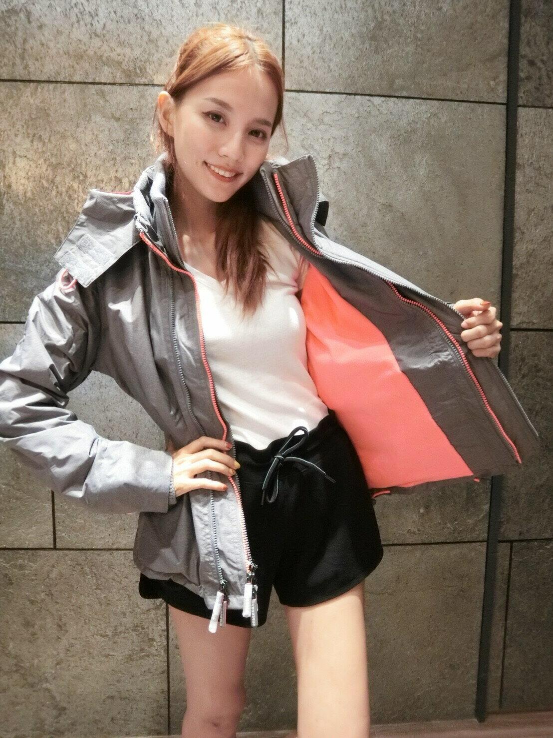 灰粉色女生極度乾燥Superdry 防風外套?