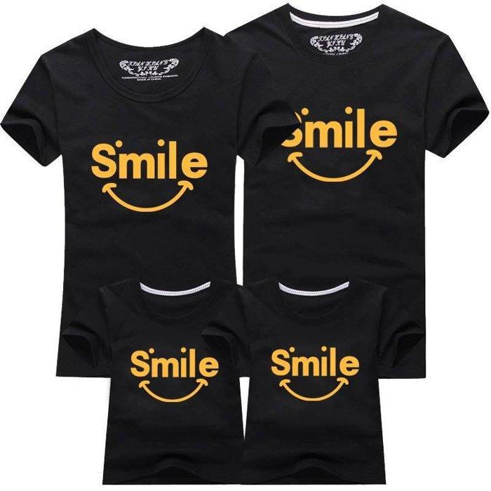 【甜蜜蜜親子裝 】情侶裝 男裝 女裝 童裝 母女裝 父子裝 全家福 夏裝 短袖 圓領T smile微笑 TMM0006