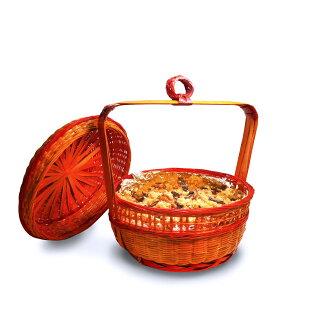 [胖姨媽廚房] 招牌手工彌月油飯提籃_五斤