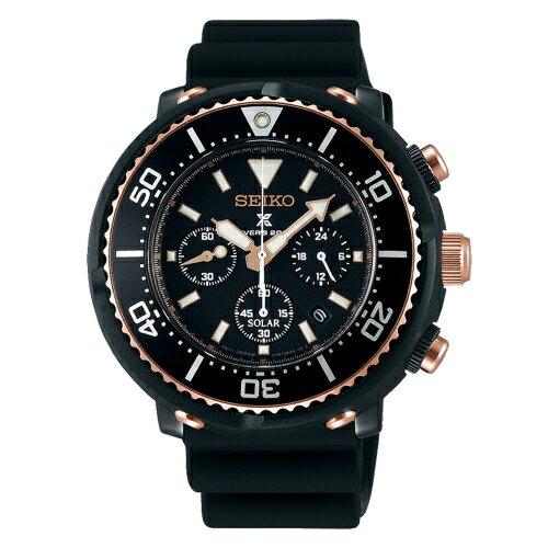 SEIKO精工PROSPEX強力鮪魚罐頭太陽能計時限量腕錶V175-0DT0KSBDL038J