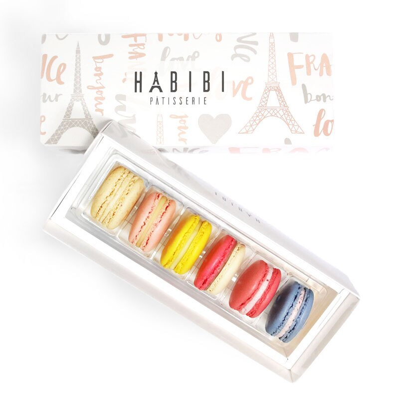 HABIBI 手工馬卡龍 漫步巴黎-【繽紛果香 】6入★禮首選☆6種口味一次滿足★※團購及下午茶熱門搶購商品