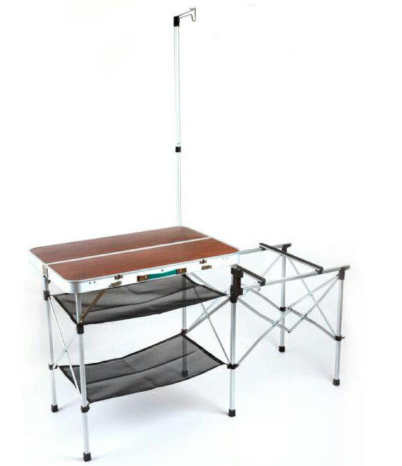 【【蘋果戶外】】Go Sport 98001 手提式料理桌 行動廚房 爐架 料理桌 雙口爐架 同coleman cm-3126質感