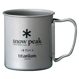 Snow peak 日本 | SP鈦金屬單層杯450ml-摺疊把 | 秀山莊(MG-043R)