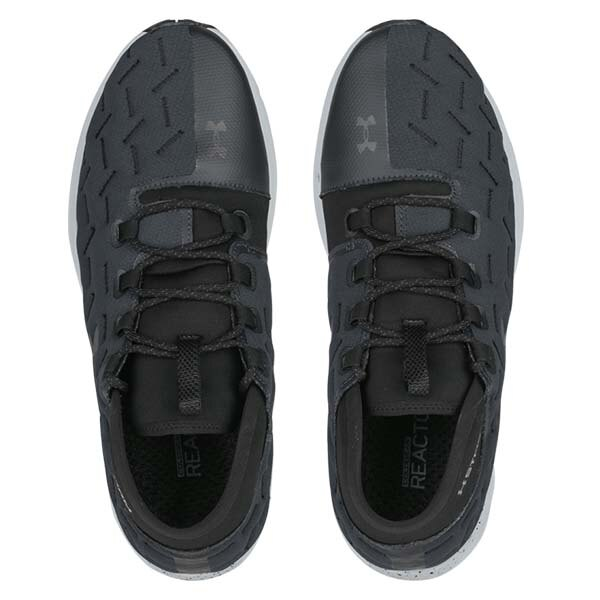 《下殺5折》Shoestw【1298534-100】UNDER ARMOUR Charged Reactor Run 慢跑鞋 防潑水 黑灰 男生 2