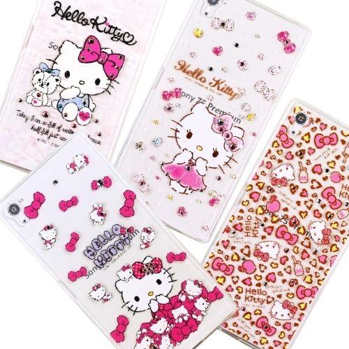 5.5吋 Z5 Premium 手機套 Hello Kitty 鑽殼 施華洛世奇 水鑽 Sony Xperia E6853 鑲鑽 貼鑽/TPU軟殼/保護殼/保護套/手機殼/禮品/贈品/TIS購物館