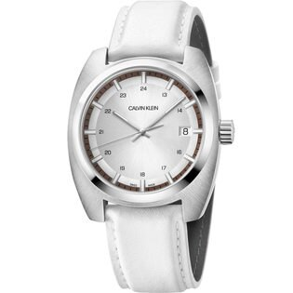 Calvinklein卡文克萊成就系列(K8W311L6)優雅自信腕錶白43*49.75mm