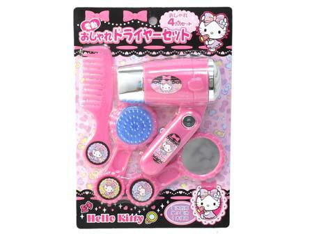 【真愛日本】16012000004 吹風機玩具組 KITTY 凱蒂貓 三麗鷗 扮家家酒 兒童玩具 遊戲 公仔