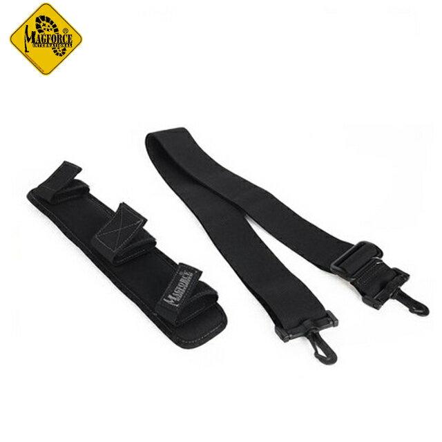 Magforce 馬蓋先 2英吋透氣止滑肩墊+ 2英吋揹帶/側背包揹帶/側背包配件 台灣製 MP0206 黑