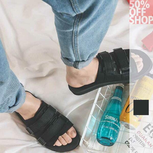 50%OFFSHOP韓版情侶休閒拖鞋(1色)(S-XXXL)【BA036291SH】