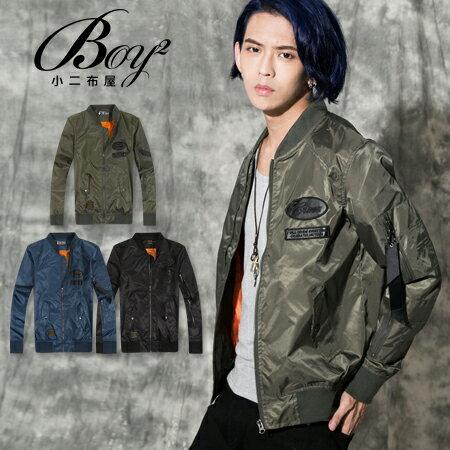 ☆BOY-2☆ 【KKL9065】潮流亮面繡布MA-1飛行軍外套 0