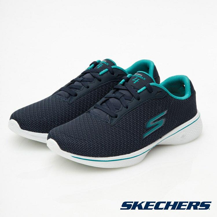 SKECHERS 女款 Go Walk 4 健走鞋14175 WNVTL 寬楦 / 城市綠洲 (美國品牌、針織網布、避震、輕量)