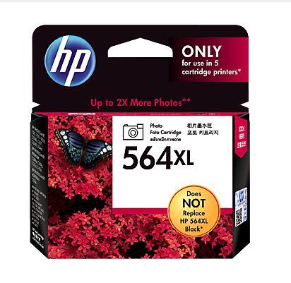 【免運】HP 564XL相片黑色墨水匣(頁面產量:290張4x6吋相片,390張L尺寸相片)★★★全新原廠公司貨含稅附發票★★★