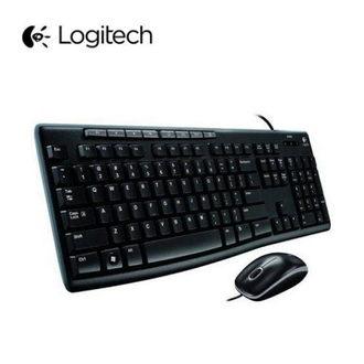 羅技 Logitech MK200 USB 有線鍵盤滑鼠組/USB(黑)★★★全新原廠公司貨含稅附發票★★★
