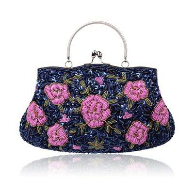 晚宴包鏈條手提包-花朵刺繡串珠精緻女手拿包9色73rk18【獨家進口】【米蘭精品】