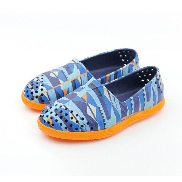 native VERONA 休閒鞋 桔藍 小童 no485