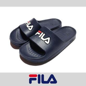 萬特戶外運動 FILA 4-S355Q 防水 超輕量 一體成形 無接縫 男女尺寸 運動 沙灘拖鞋 情侶鞋 復古經典 深藍