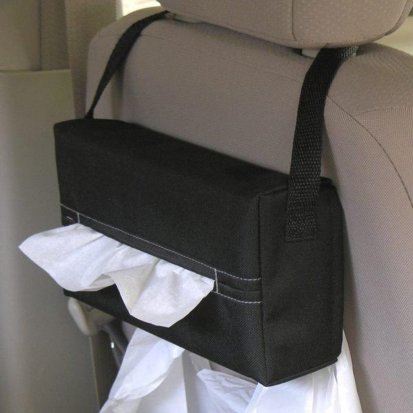 權世界@汽車用品 日本 SEIKO 超便利面紙盒套 掛袋 - 黑 EH-170