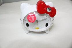 大賀屋 Hello Kitty 鬧鐘 音樂 白 音樂鐘 時鐘 造型鐘 凱蒂貓 三麗鷗 KT 正版 授權 T0001 77