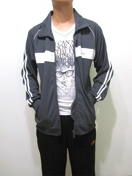 sun-e台灣製吸濕排汗薄外套、運動外套、單層薄外套、防曬外套、手臂配色織帶(310-7789-08)深藍色、(310-7789-21)黑色、(310-7789-22)深灰色 尺寸:L XL(胸圍:44~46英吋)(男女可穿) [實體店面保障] 9