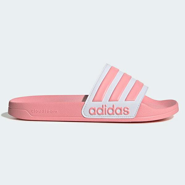 ADIDAS【EG1886】Adilette Shoower Slides 拖鞋 防水拖 粉白 女生尺寸