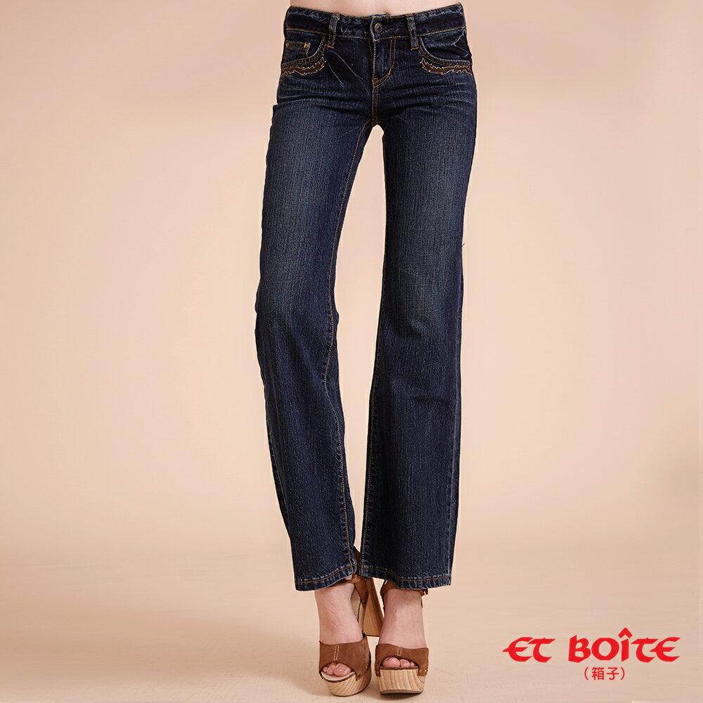 【任2件1580】嬉皮貼皮繡花牛仔靴型褲 - BLUE WAY  ET BOiTE 箱子 2