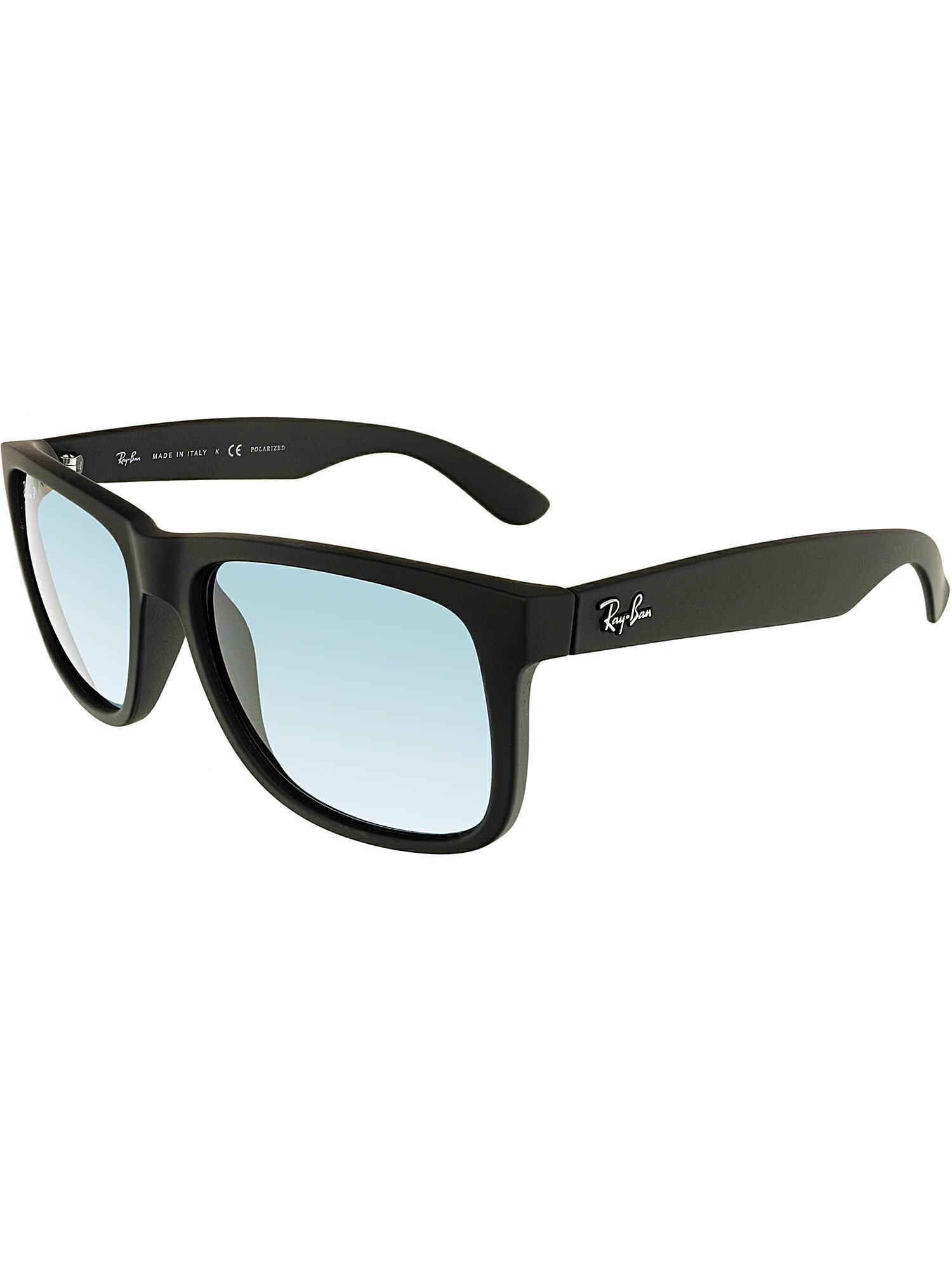 Ray-Ban Men s Polarized Justin RB4165-622 2V-54 Black Square Sunglasses 6dd6583e71c2