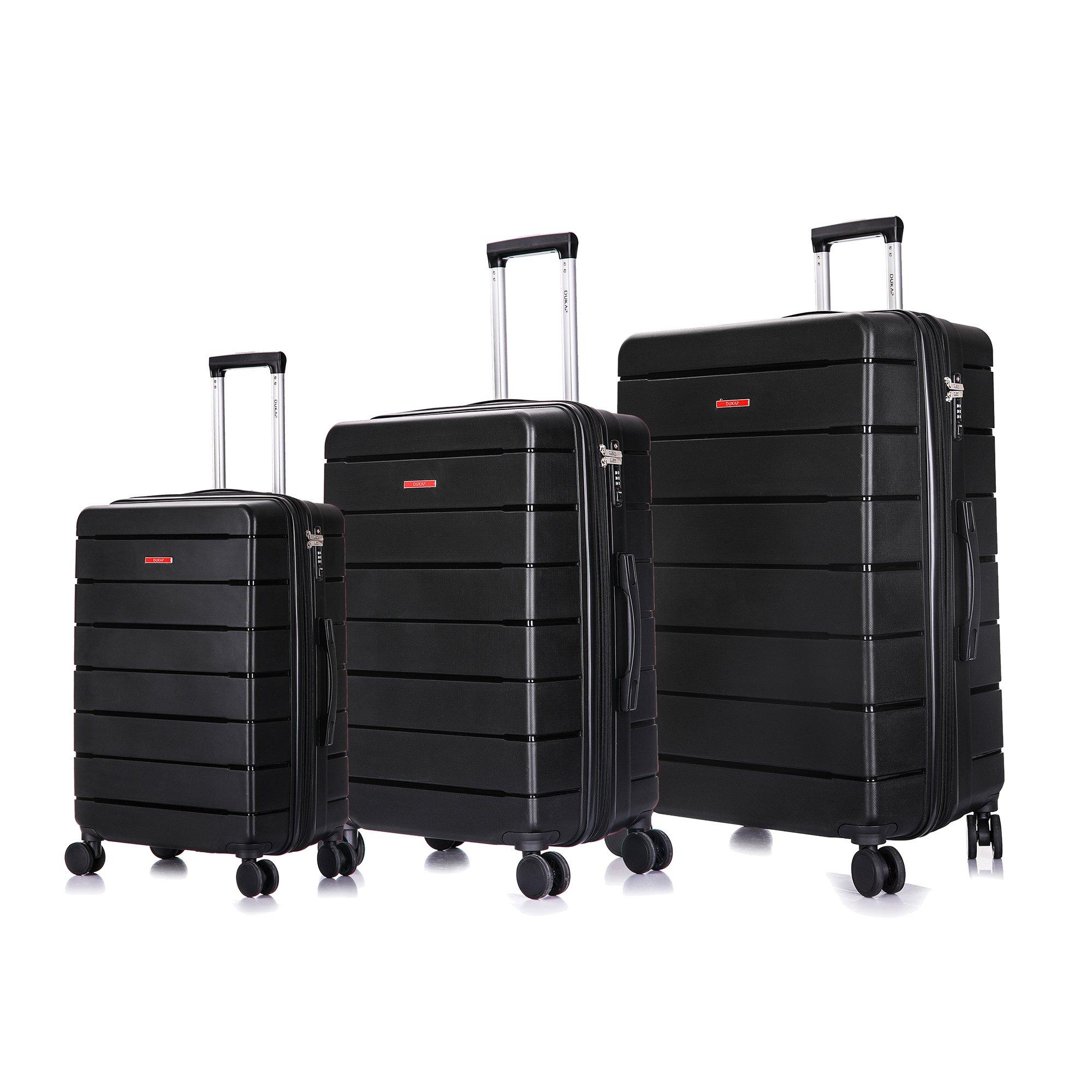 7da7e8aaf4f8 DUKAP Definity - 3-Piece Large Lightweight Durable Polypropylene Hardside  Spinner Expandable Luggage Set 20