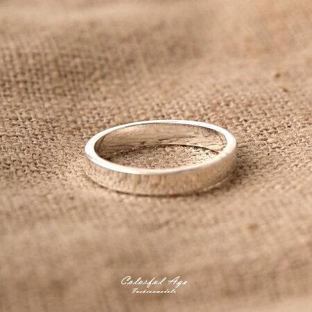 925純銀戒指 基本款銀色全素面戒指/尾戒 多種尺寸可挑選 抗過敏材質 柒彩年代【NPC28】禮物首選 - 限時優惠好康折扣