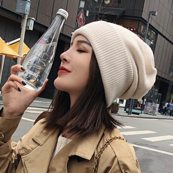 帽子 帽子女秋冬日系百搭針織毛線帽時尚韓版潮月子帽 後冬季韓國冷帽