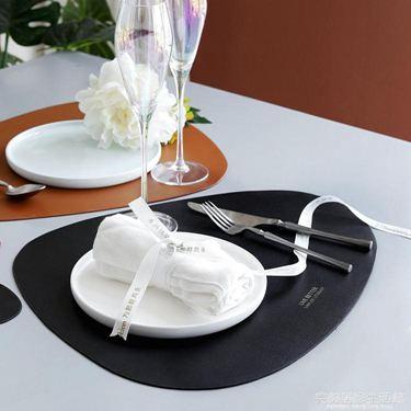 滋本家北歐風皮革餐墊創意防水防油西餐墊隔熱盤墊家用餐桌墊杯墊