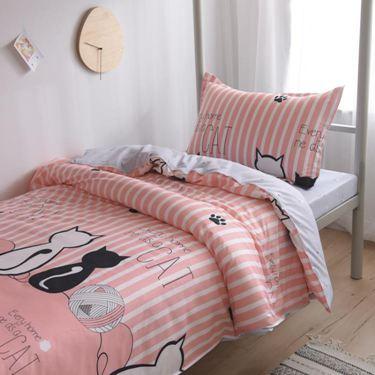 被套被單枕套床單三件套學生宿舍單人被罩2兩件套單件ins北歐少女