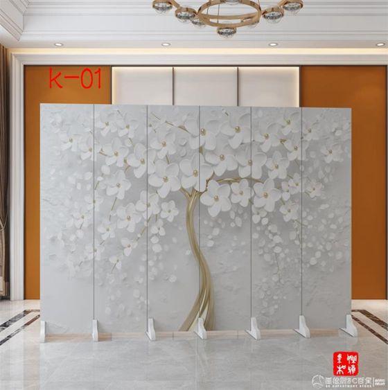 北歐屏風隔斷墻簡約現代家用客廳折疊移動臥室遮擋辦公室裝飾折屏QM