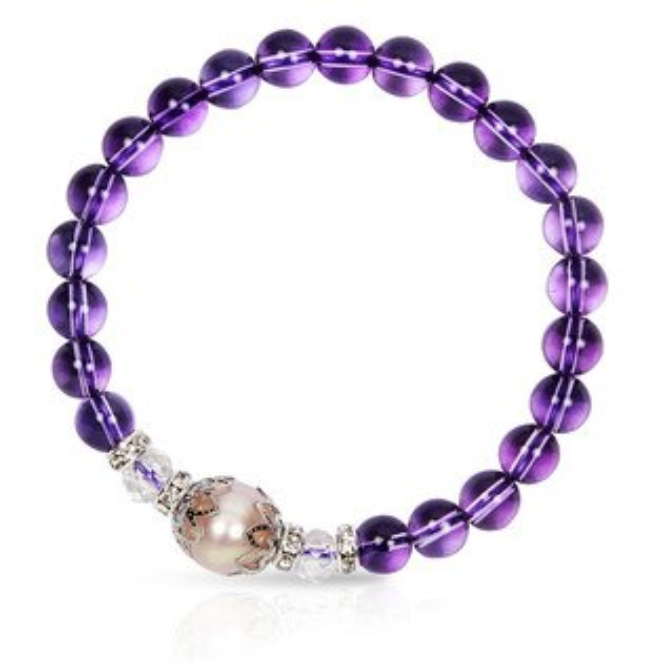 【馥瑰馨盛XA1寶石】星座誕生石-晶鑽紫水晶白水晶珍珠-幸運石(含開光)4030702