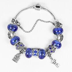 【馥瑰馨盛X A1寶石】潘朵拉元素日本頂級時尚-海水藍七脈輪星座琉璃手鍊(含開光加持)4209952