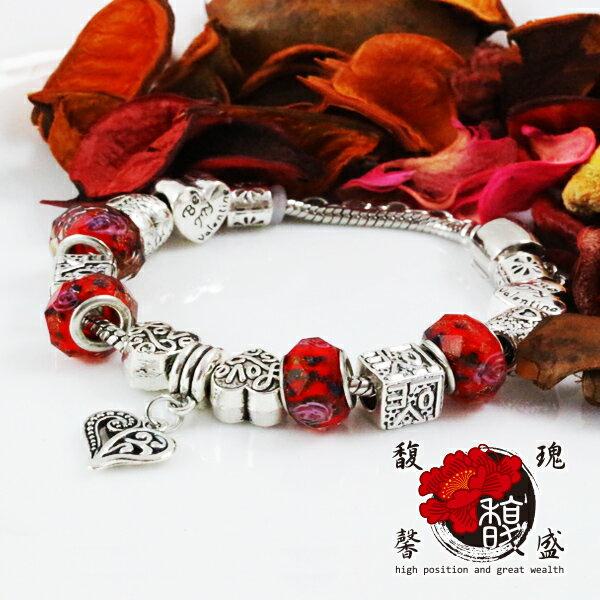 手鍊品牌~愛的徜徉串珠手環~鍍膜 電鍍 珠寶 琉璃珠 施華 潘朵 Pando 含開光 馥瑰