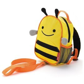 【淘氣寶寶】美國 SKIP HOP 可愛動物園 ZOO-LET 迷你防走失背包~附防走失帶(蜜蜂/Bee)