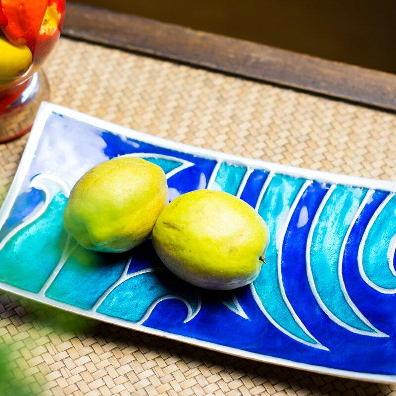 印度進口特色盤子北歐式客廳茶幾果盤ins風彩釉異域風蛋糕壽司盤