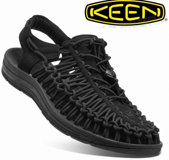 KEEN 涼鞋/運動涼鞋/拖鞋/繩編涼鞋 UNEEK 女款 1014099 全黑版/台北山水