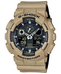 CASIO 卡西歐 G SHOCK  帥勁雙色搶眼設計潮流錶 卡其 黑 GA-100L-8ADR  52.0mm