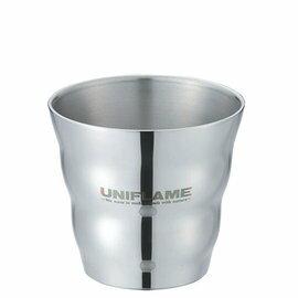 UNIFLAME 不鏽鋼雙層斷熱杯SUS/露營保溫杯/雙層鋼波浪杯 18-8食品級不鏽鋼 U666135 日本製
