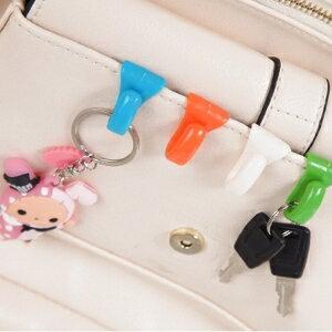 美麗大街【BF111-10-1-856】創意防丟包包內掛鉤內置鑰匙夾方便攜帶鑰匙扣(2入)