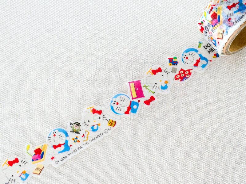 *小徑文化*日本進口 哆啦A夢 x Kitty 合作聯名款 花邊和紙膠帶 - 道具(B)日本限定(3870-06)
