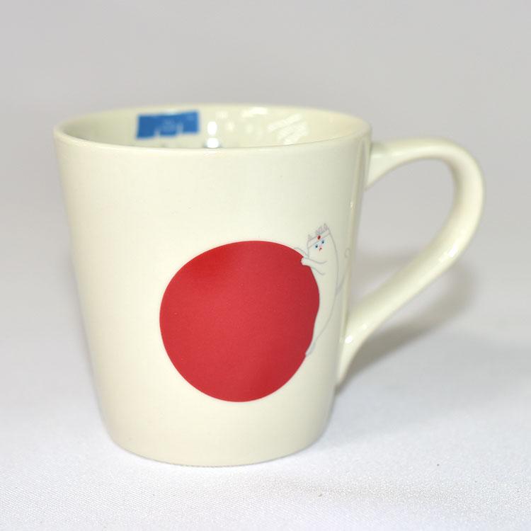 貓與日本國旗印象 陶瓷馬克杯 日本正版 250ml