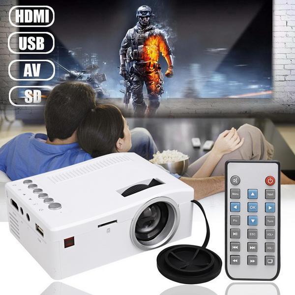 Micro Mini LED LCD Projector Portable Home Cinema Theater Multimedia 0