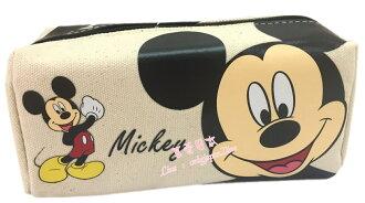 【真愛日本】16080400003長四方帆布筆袋-米奇  迪士尼 米老鼠米奇 米妮  鉛筆盒 收納 筆袋