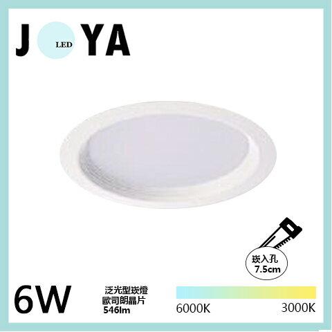 LED崁燈 德國歐司朗晶片 LED一體式 7.5公分 6W 9W 演色性↑清晰度↑亮度↑高