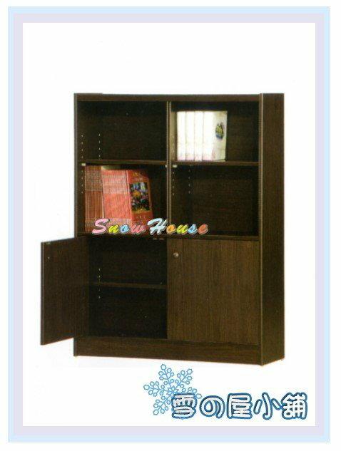 ╭☆雪之屋居家生活館☆╯AA553-05 F-06書櫃(黑胡桃)(美背式)/置物櫃/收納櫃/附活動隔板4片(含門內2片)